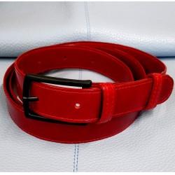 Pasek skórzany Ps-30(czerwony)