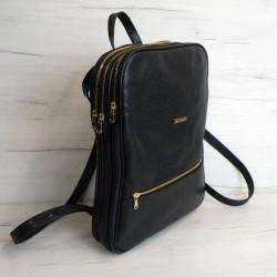 Plecak skórzany Pl-218(czarny)